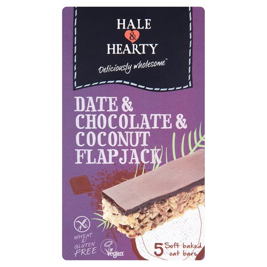 Hale And Hearty Chocolate And Date Flapjacks 180G
