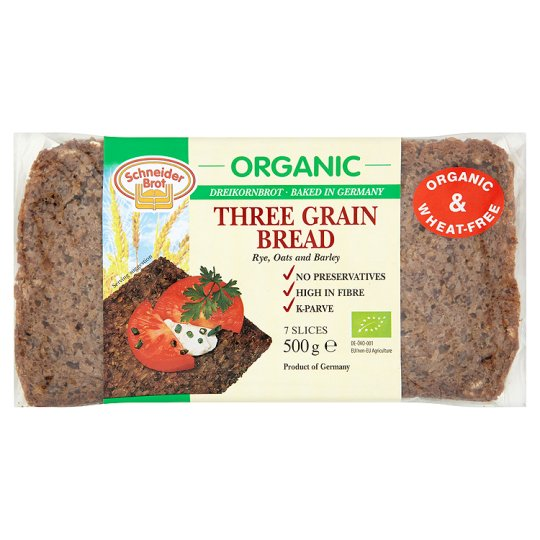 Schneider Brot Organic Three Grain Bread 500G