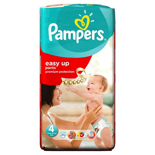 Pampers Easy Ups Size 4 Large Pack 50 Nappies