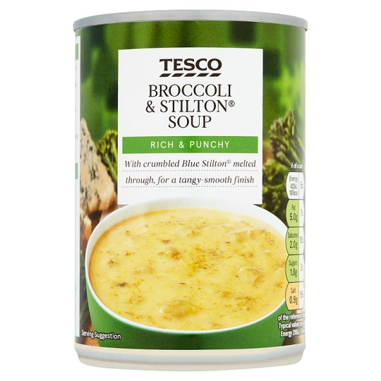 Tesco Broccoli And Stilton Soup 400G