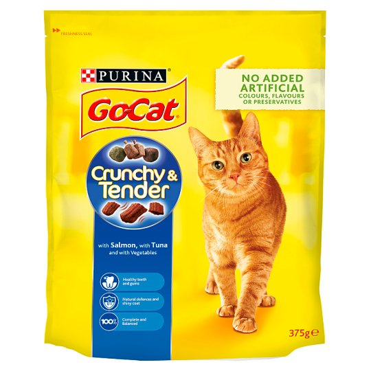 Go Cat Crunchy And Tender Salmon Tuna And Vegetable 375G