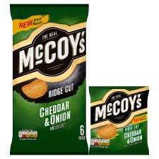 image 2 of Mccoy's Cheddar And Onion Crisps 6X25g