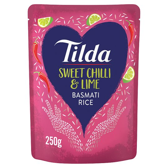 Tilda Chilli And Lime Steamed Basmati Rice 250G