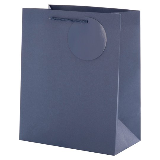 Tesco Blue Kraft Bag Medium