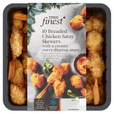 Tesco Finest Breaded Chicken Skewers With Dip 220G