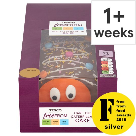 image 1 of Tesco Free From Carl The Caterpillar Cake