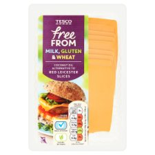 Tesco Free From Coconut Oil Alternative To Red Leicester 180G