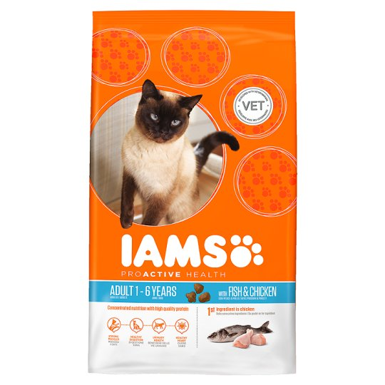 Iams Cat Food Adult Fish And Chicken 800G