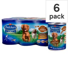 Butchers Meaty Stew Selection Dog Food 6 X400g