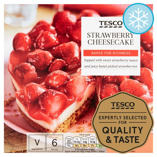 Tesco Strawberry Cheesecake 500G