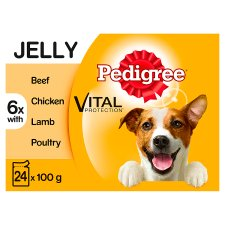 Pedigree Jelly Favourites Dog Food Pouches 24 X100g