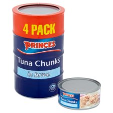 Princes Tuna Chunks In Brine 4X160g