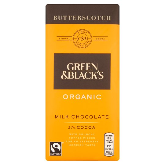 Green And Black Butterscotch Milk Chocolate Bar 100G