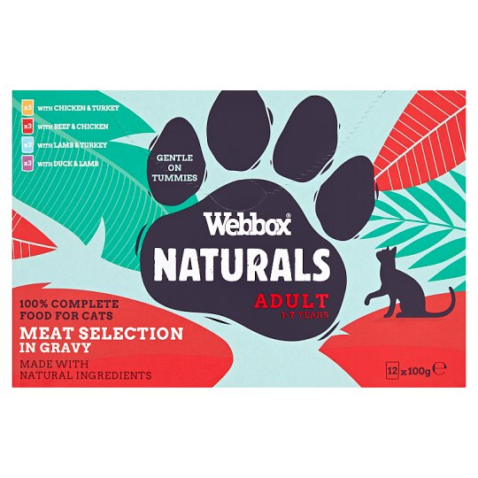 Webbox Natural Meat Selection In Gravy Cat Food 12X100g