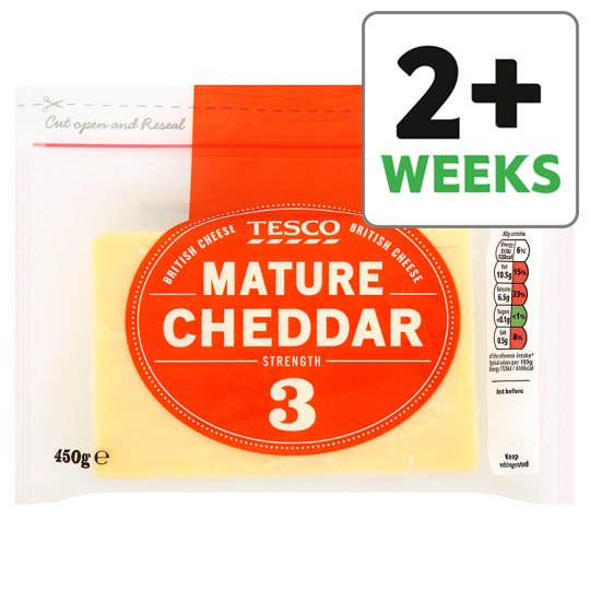 Tesco British Mature Cheddar Cheese 450 G