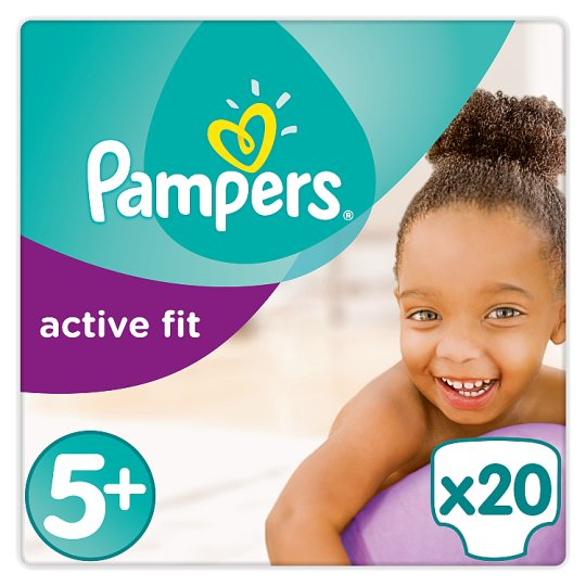 Pampers Active Fit Size 5+ Carry Pack 20 Nappies