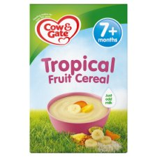 Cow And Gate Tropical Fruit Cereal 200G 7 Month Plus