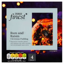 Tesco Finest Rum And Raisin Pudding 454G