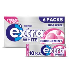 Wrigley's Extra White Bubblemint 6X10 Pieces 84G