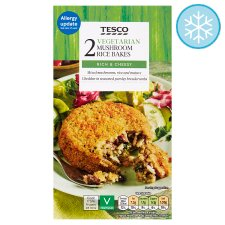 Tesco Meat Free Mushroom Risotto Bakes 2 Pack 280G