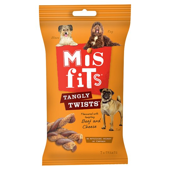 image 1 of Misfits Tangly Twists Dog Treats 140G