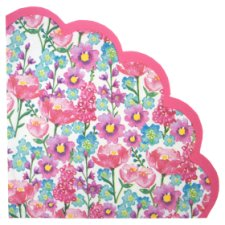 Scalloped Floral 33Cm Napkin