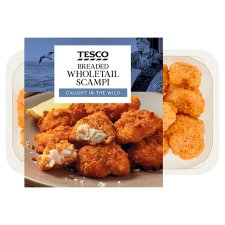 Tesco Breaded Wholetail Scampi 200G