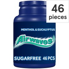 Airwaves Menthol And Eucalyptus Gum Bottle 46 Pieces