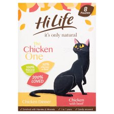 Hilife Natural The Chicken One Cat Food 8X70g