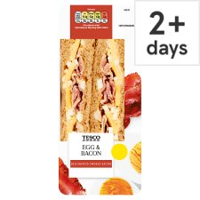 Tesco Egg And Bacon Sandwich