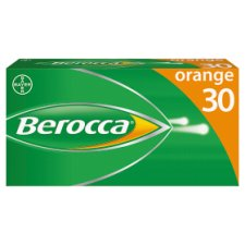 Berocca Orange Effervescent Vitamin Energy Tablets 30S