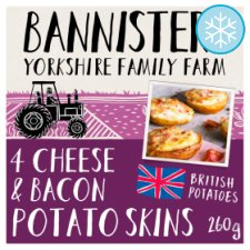 Bannisters Farm Cheese And Bacon Potato Skins 260G