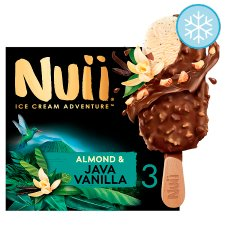 Nuii Almond And Java Vanilla Ice Cream Sticks 3X90ml