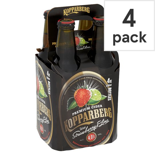 Kopparberg Strawberry And Lime Bottle 4X330ml