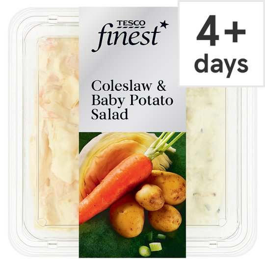 Tesco Finest Coleslaw And Baby Potato Salad 400G