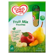Cow & Gate Fruit Cocktail Pouch 4 Mths+ 100G X4