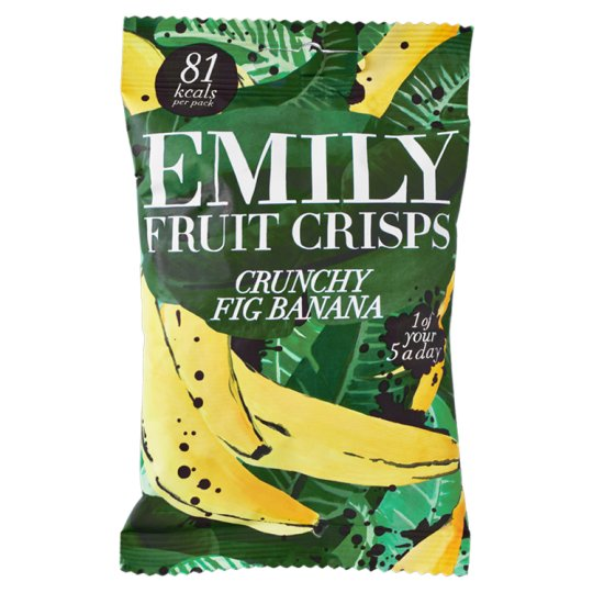Emily Fruit Crisps Crunchy Fig Banana 18G