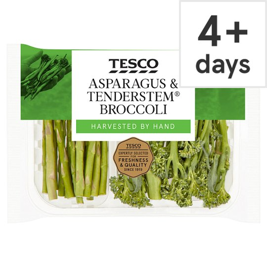 image 1 of Tesco Asparagus And Tender Stem Broccoli 190G