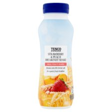 Tesco Strawberry And Peach Breakfast Drink 250Ml
