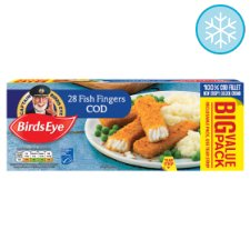 Birds Eye 28 Fish Fingers Cod 784G