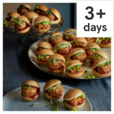 Tesco Mini Vegetarian Party Food Sliders, 24 Pieces, Serves 12