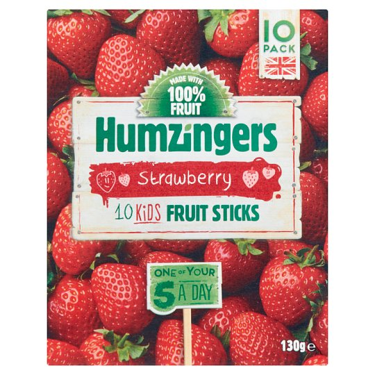 Humzingers Strawberry Fruit Sticks 130G