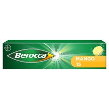 Berocca Mango Effervescent Vitamin Energy Tablets 15S