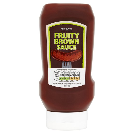 Tesco Squeezy Top Down Fruity Brown Sauce 480G