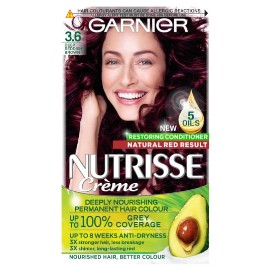 image 1 of Garnier Nutrisse 3.6 Deep Reddish Brown Permanent Hair Dye