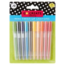 Tesco Go Create Mini Twist-Up Crayons 10 Pack