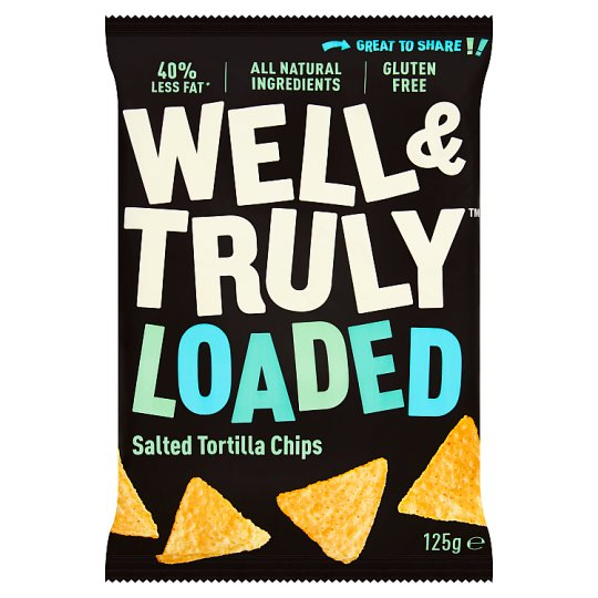 Well And Truly Gluten Free Tortilla Chips 125G