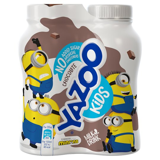 Yazoo No Added Sugar Chocolate Milkshake4x200ml