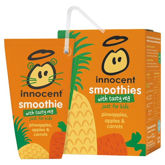 Innocent Pineapple Apple And Carrot Smoothie 4 X 180 Ml