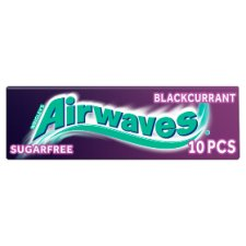 image 1 of Airwaves Blackcurrant Gum 10 Pieces